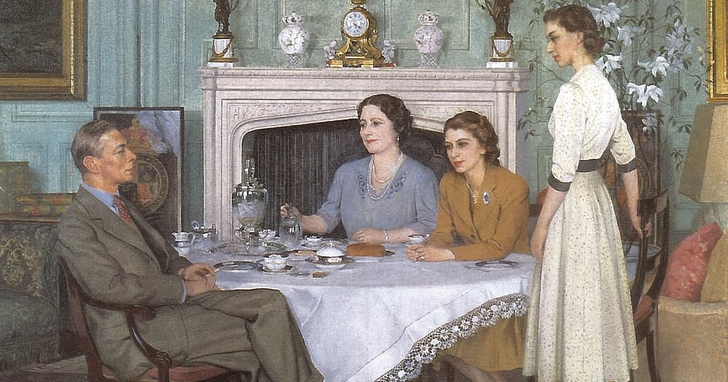 Conversation Piece, Royal Family at tea