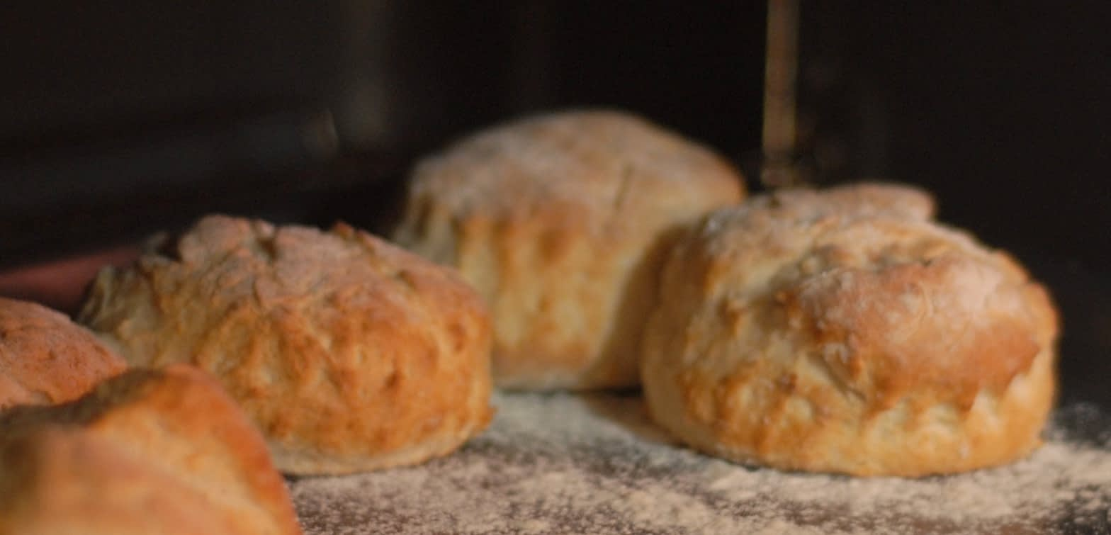 scones just ready to come out of the oven