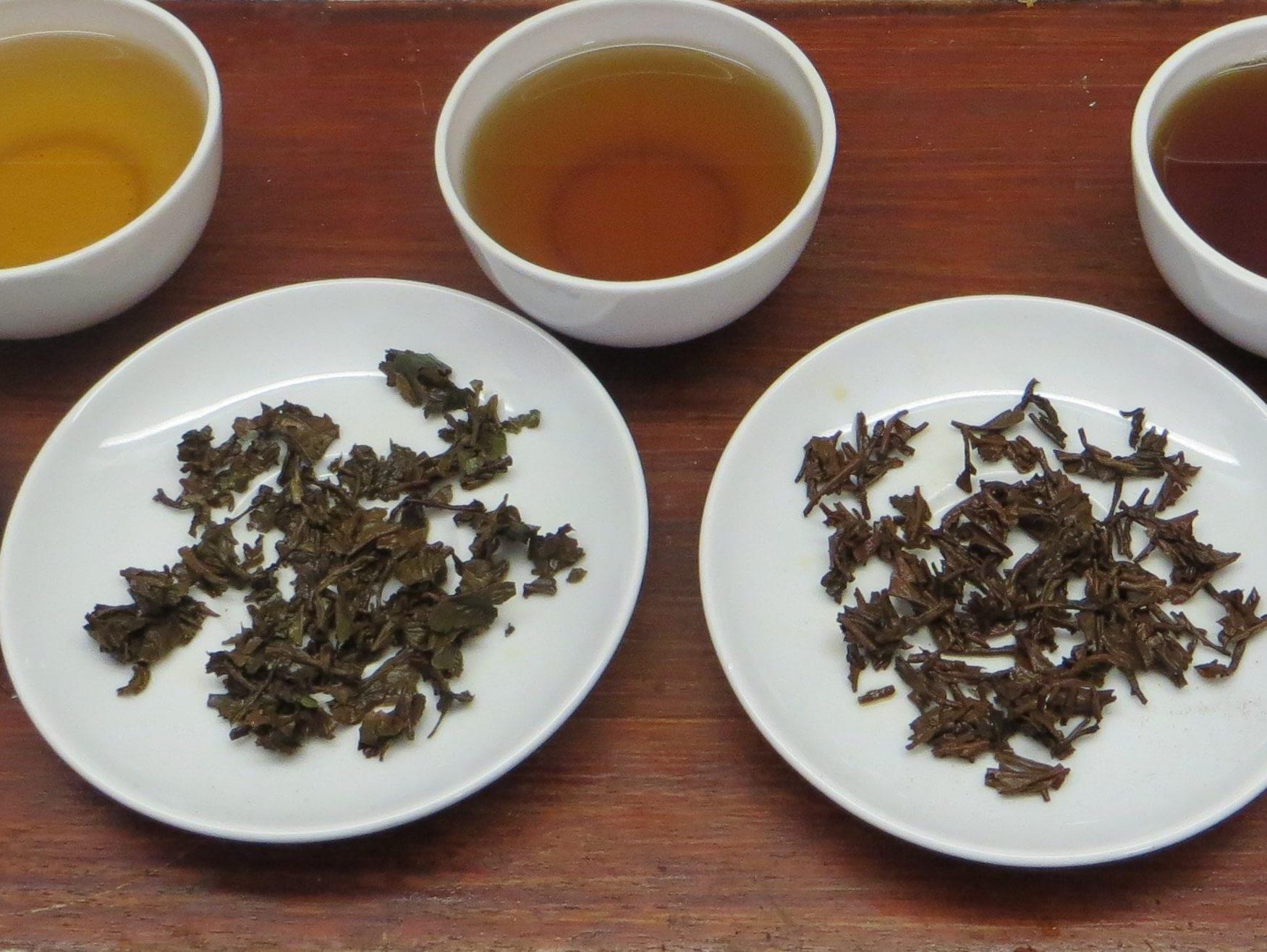 tea leaves and liquor